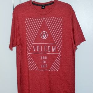 Volcom Red True to This Graphic Tshirt XL